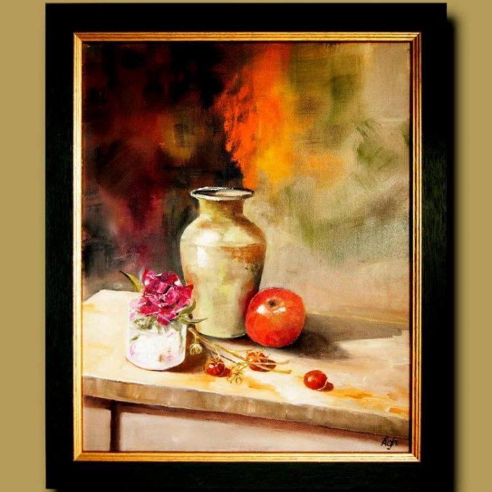 Csendélet zöld vázával